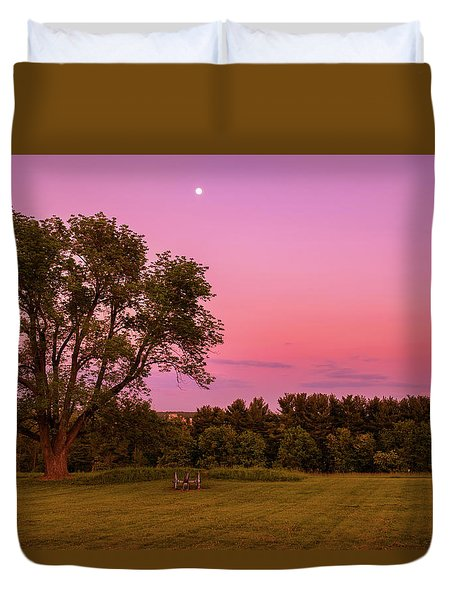Moon Over Valley Forge Duvet Cover