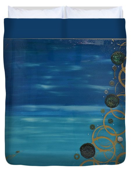 Moon Over Water Duvet Cover