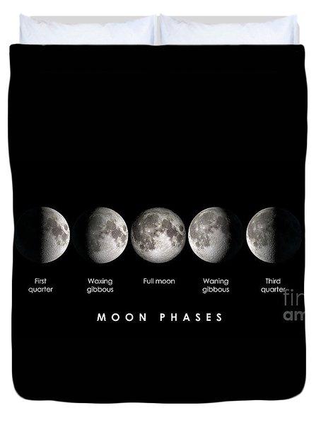 Moon Phases Duvet Cover