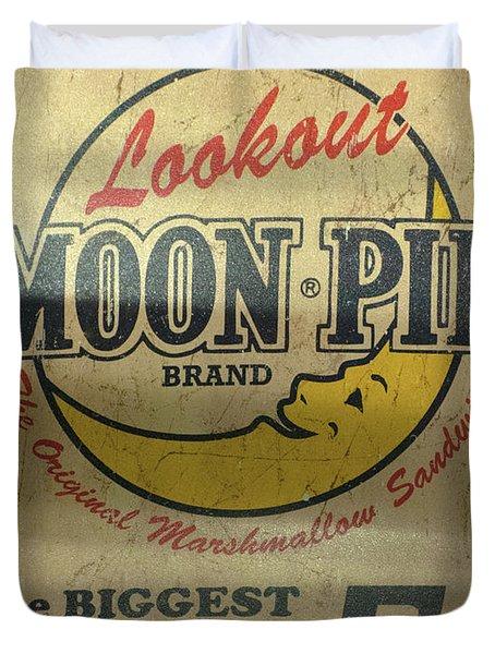 Moon Pie Antique Sign Duvet Cover