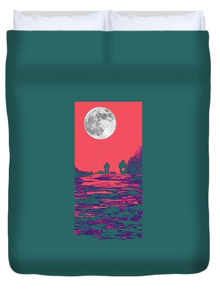 Moon Racers Duvet Cover