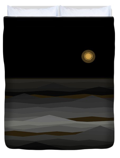 Moon Rise Abstract II Duvet Cover by Val Arie