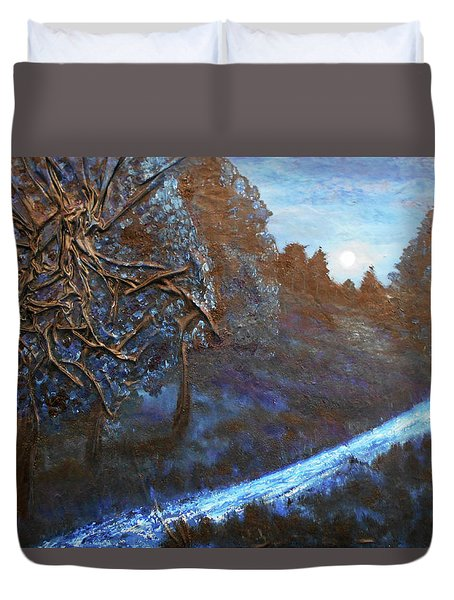 Moon Rise  Duvet Cover by Angela Stout