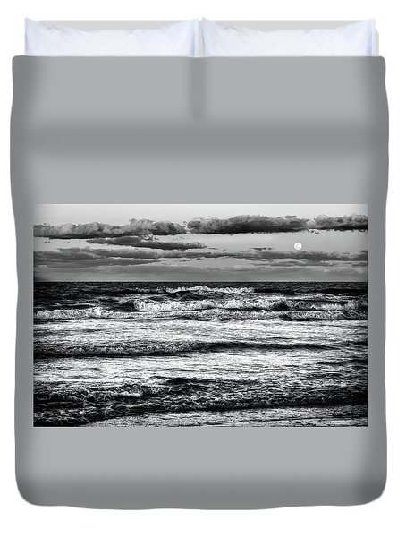 Duvet Cover featuring the photograph Moon Rising  by Louis Ferreira