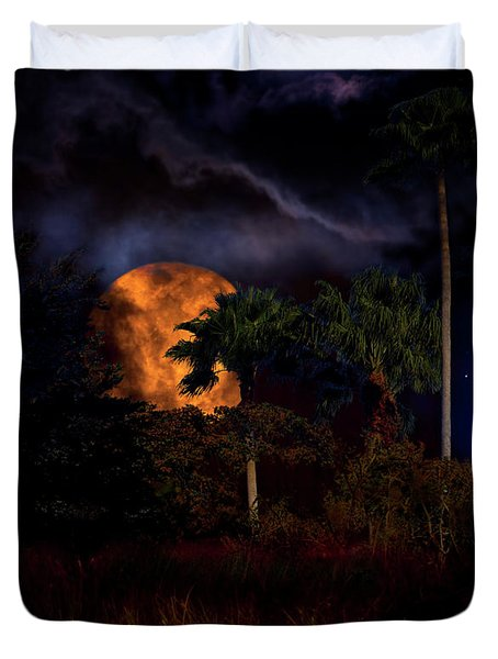 Duvet Cover featuring the photograph Moon River by Mark Andrew Thomas