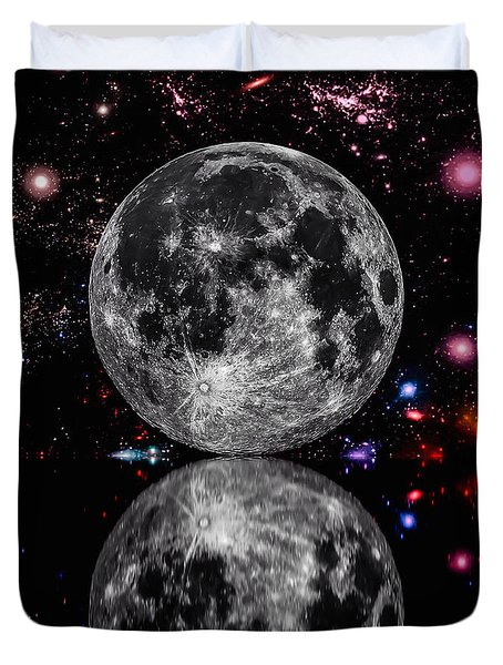 Moon River Duvet Cover by Naomi Burgess