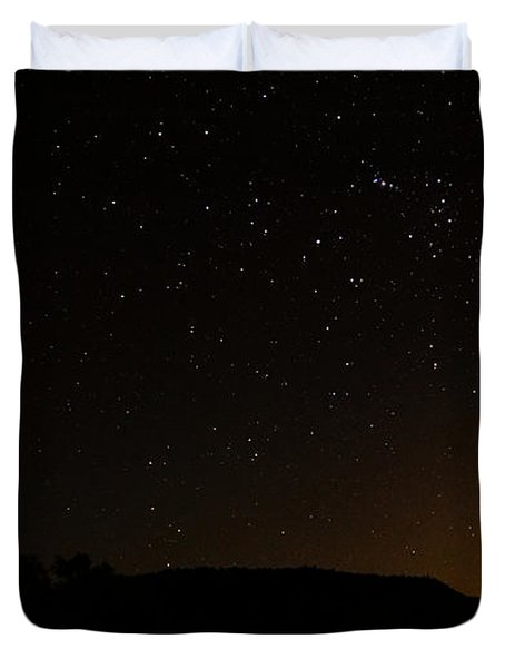 Moon Set Over Palm Valley Duvet Cover