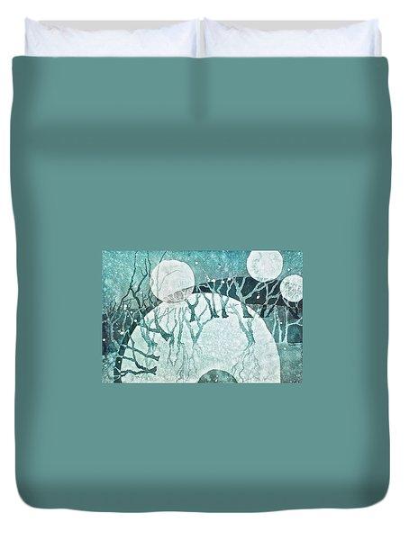 Moon Shadows Duvet Cover by Carolyn Rosenberger