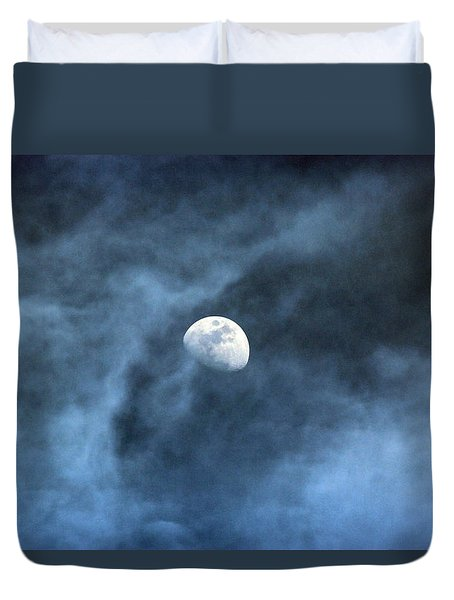 Moon Smoke Duvet Cover