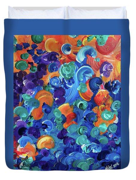 Moon Snails Back To School Duvet Cover