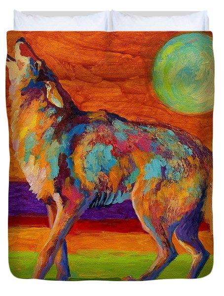 Moon Talk - Coyote Duvet Cover