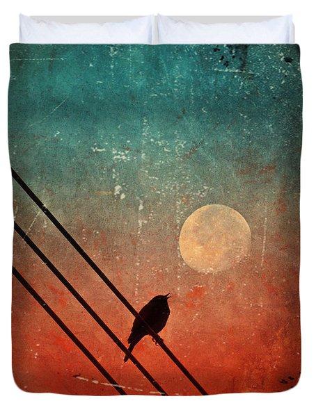 Moon Talk Duvet Cover by Tara Turner