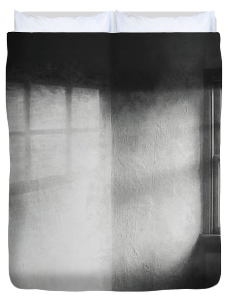 Moonbeams On The Attic Window Duvet Cover