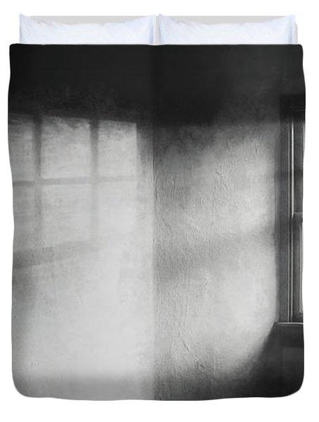 Moonbeams On The Attic Window Duvet Cover