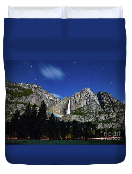 Moonbow And Louds  Duvet Cover