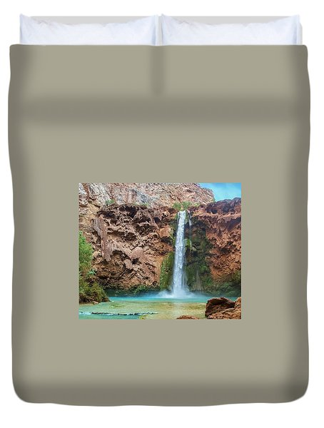 Mooney Falls Grand Canyon Duvet Cover