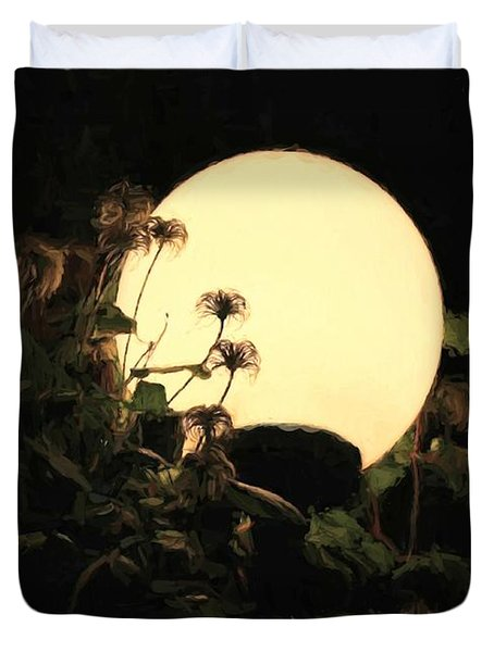 Moonglow Thistles Duvet Cover
