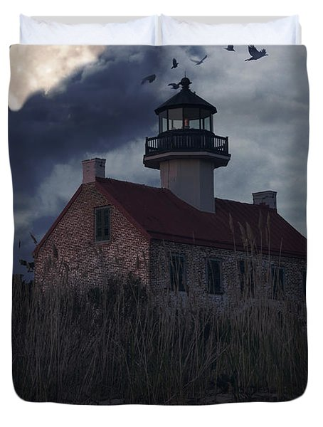 Moonlight At East Point Duvet Cover