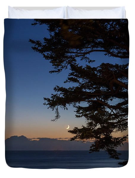 Moonlight At The Beach Duvet Cover