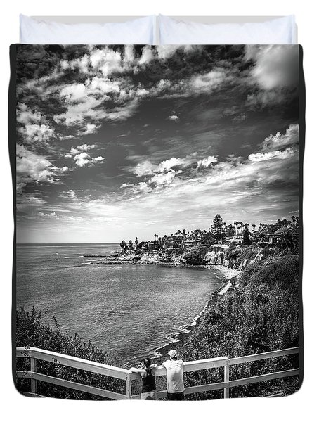 Duvet Cover featuring the photograph Moonlight Cove Overlook by T Brian Jones