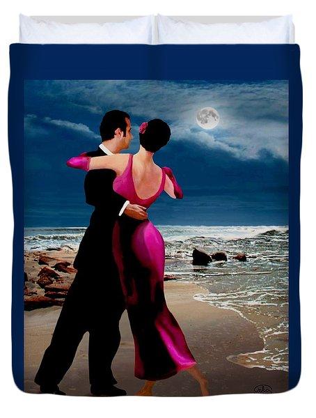 Moonlight Dance V2 Duvet Cover by Ron Chambers