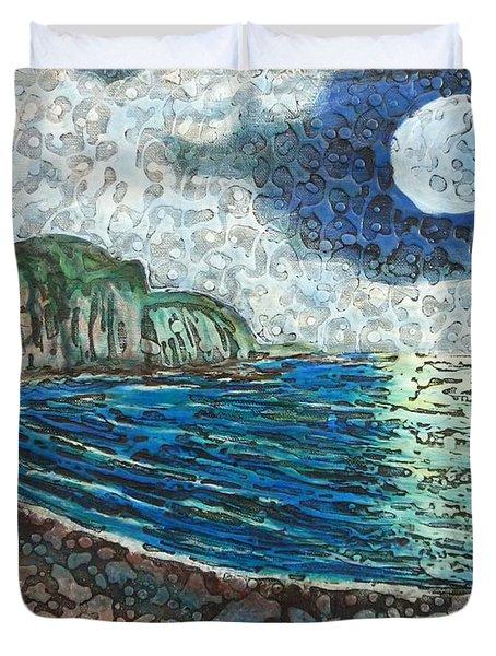 Moonlight In Pourvill Duvet Cover