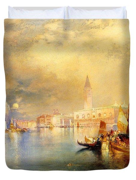 Moonlight In Venice Duvet Cover