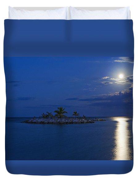 Moonlight Island Duvet Cover