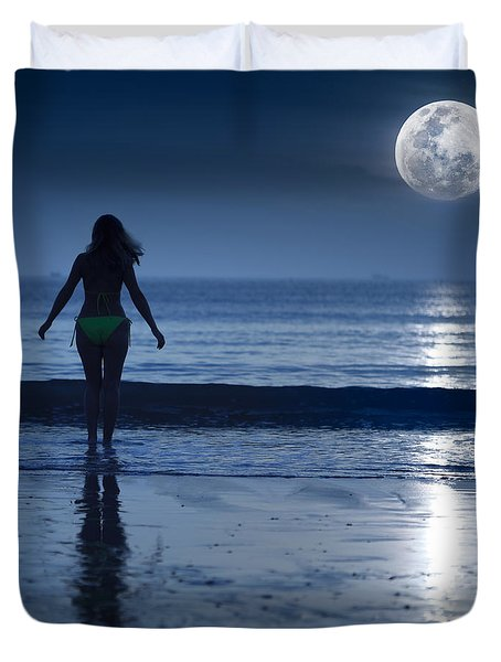 Moonlight Duvet Cover by MotHaiBaPhoto Prints