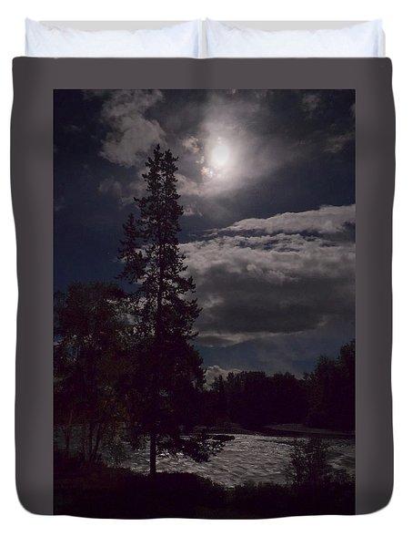 Moonlight On The River Duvet Cover