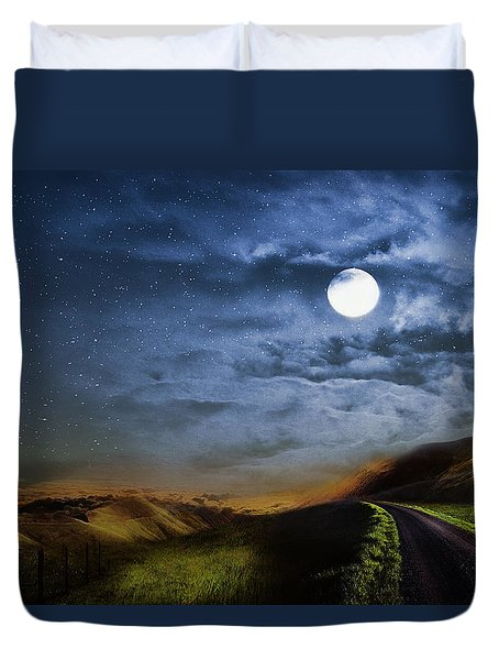 Moonlight Path Duvet Cover