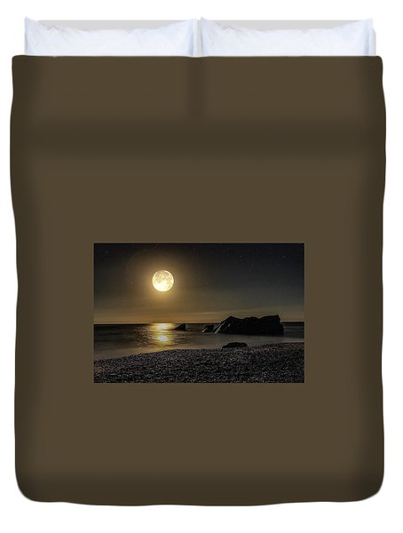 Moonlight Reflection  Duvet Cover