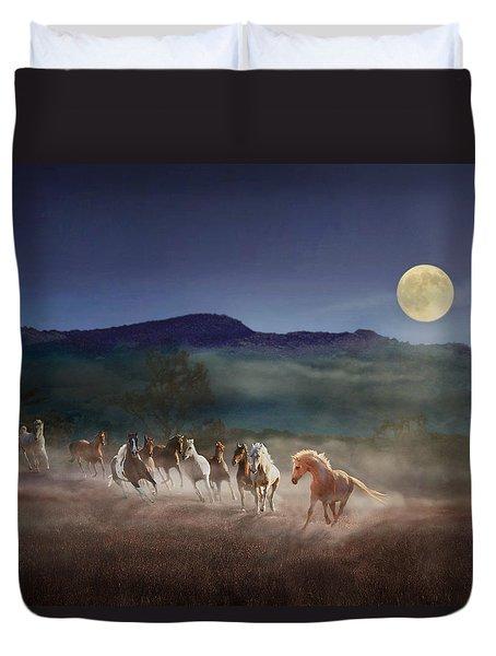Moonlight Run Duvet Cover