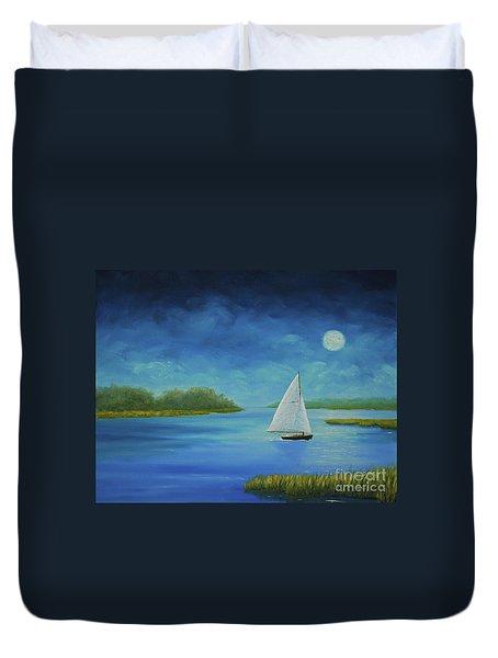 Moonlight Sail Duvet Cover