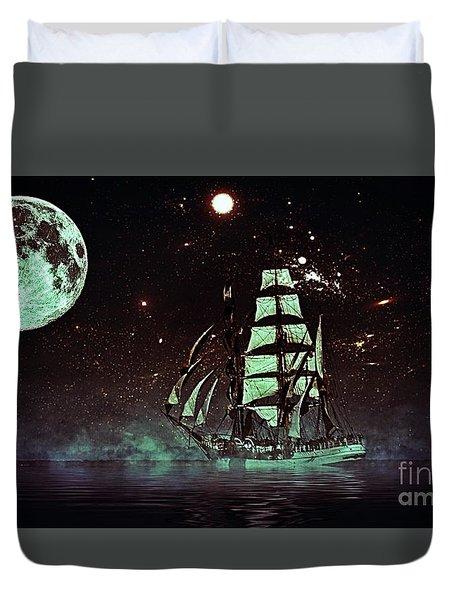 Moonlight Sailing Duvet Cover