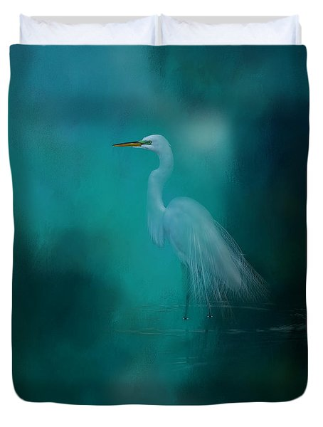 Duvet Cover featuring the photograph Moonlight Serenade by Marvin Spates