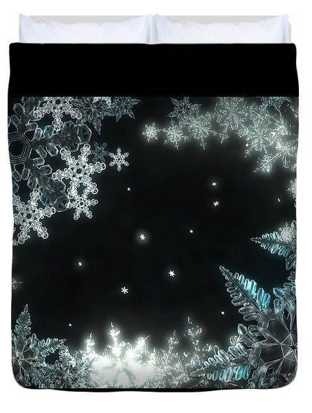 Moonlight Snow Burial Duvet Cover