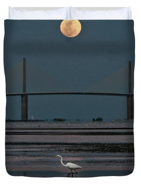 Moonlight Stroll Duvet Cover by Steven Sparks