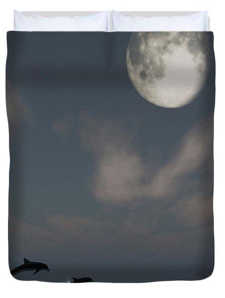 Moonlight Swim Duvet Cover by Richard Rizzo