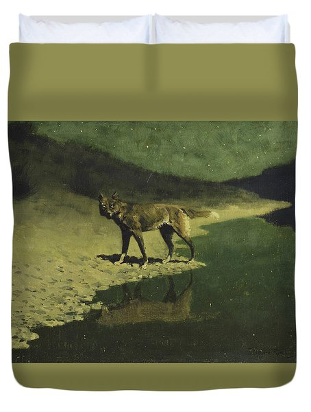 Moonlight, Wolf Duvet Cover