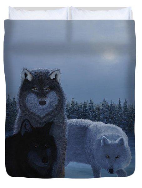 Moonlight Wolves Duvet Cover