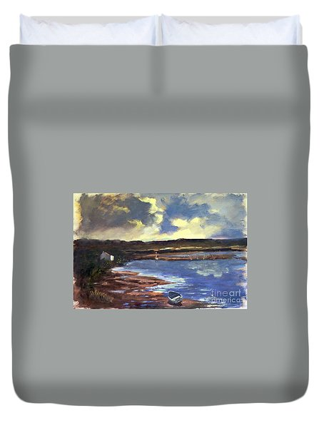 Moonlit Beach Duvet Cover