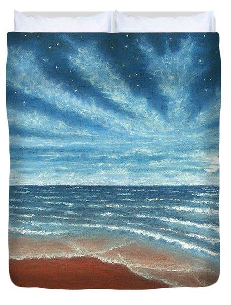 Moonlit Beach Duvet Cover