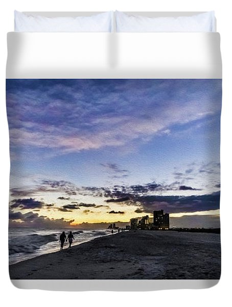 Moonlit Beach Sunset Seascape 0272b1 Duvet Cover