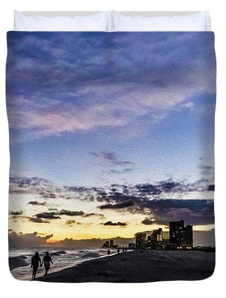 Moonlit Beach Sunset Seascape 0272c Duvet Cover
