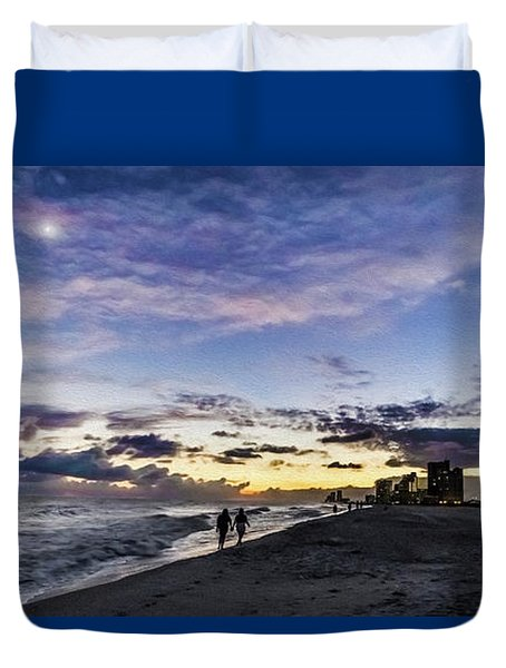 Moonlit Beach Sunset Seascape 0272c Duvet Cover