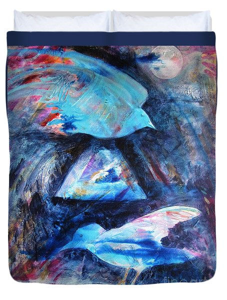 Moonlit Birds Duvet Cover