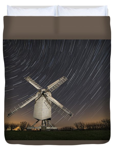 Moonlit Chillenden Windmill Duvet Cover