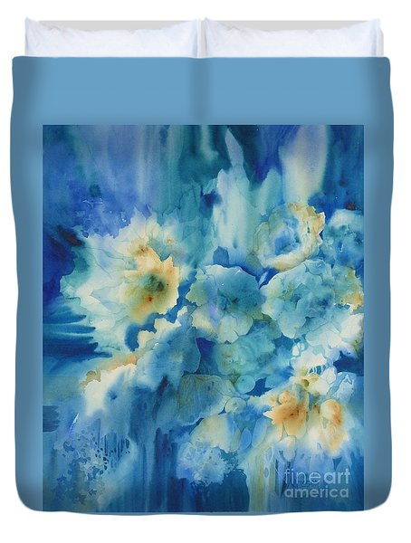 Moonlit Flowers Duvet Cover