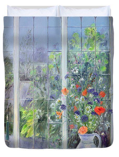Moonlit Flowers Duvet Cover